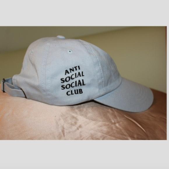57a10798250c Anti Social Social Club Accessories - ANTI SOCIAL SOCIAL CLUB Baby Blue Cap